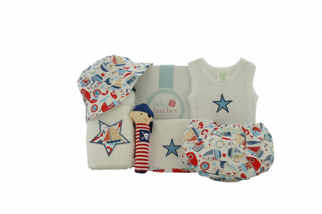 {focus_keyword} Happy Sailor Boy Baby Hamper 4 little ducks boy1