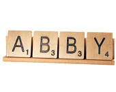 {focus_keyword} Abby - great name! abby scrabble letters