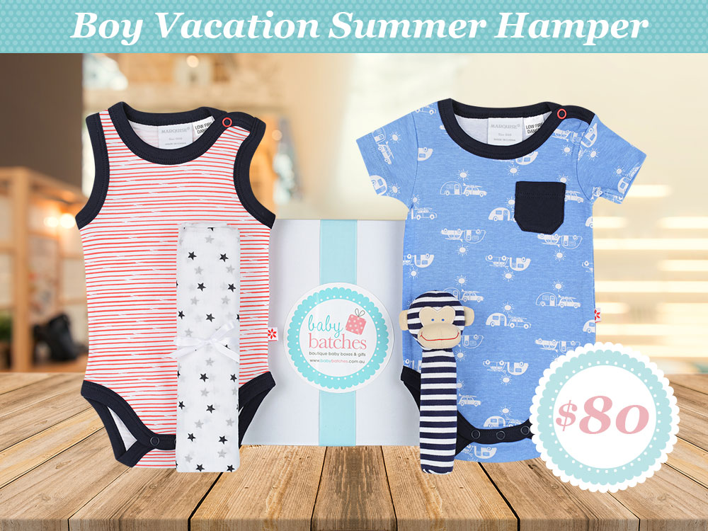 Baby Boy Summer Vacation Hamper {focus_keyword} Baby Boy Vacation Summer Hamper – Only $80.00 baby boy vacation summer hamper