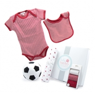 My First Soccer Ball Summer Red Baby Hamper