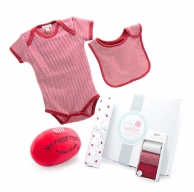 My First Football Summer Red Baby Hamper