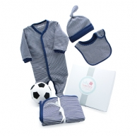 My First Soccer Ball Winter Navy Baby Hamper