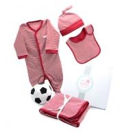 My First Soccer Ball Winter Red Baby Hamper