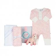 Pink Floral Baby Hamper