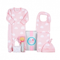 Pink Cloud Deluxe Baby Hamper