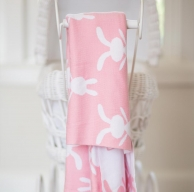 Little Bon Bon Pink Bunny Blanket