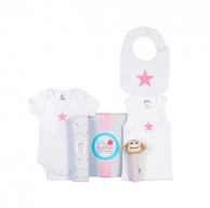 Pink Star Summer Baby Box